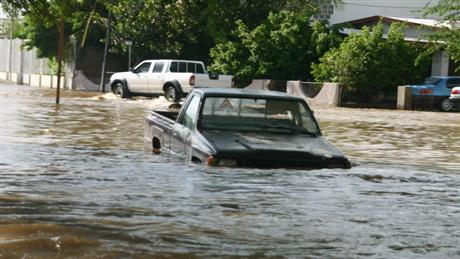 Using cars in flooded areas