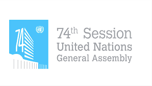 Logo of the 74th Session of the UN General Assembly