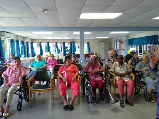 Senior citizens in a retirement home