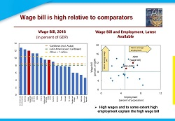 Wage bill is high comparative to comparators