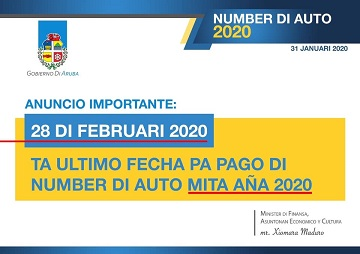 Ad Ministry of Finance, Economic Affairs and Culture regarding the new deadline of February 28. 2020 for payment of the motor vehicle tax for 2020.