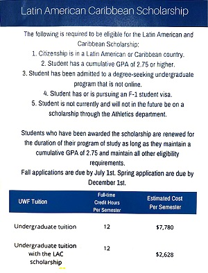 Requirement to be eligible for a Latin American and Caribbean Scholarship Eligibility (LAC).