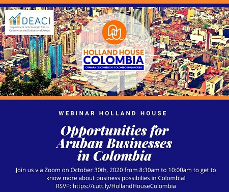 Ad Webinar hosted by Holland House  and DEACI about their business opportunities in Colombia