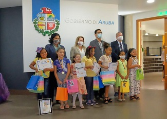Award ceremony for drawing and coloring competition
