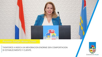 During a press conference held on November 23, Prime Minister Evelyn Wever-Croes provides new information regarding the COVID-19 situation in Aruba.