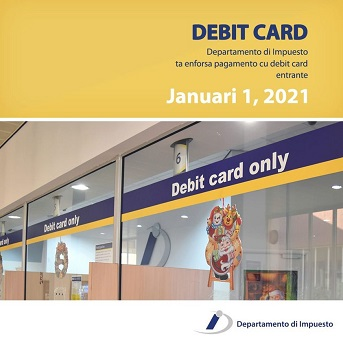 Only debit card payments possible at the Tax Department staring January 2021.