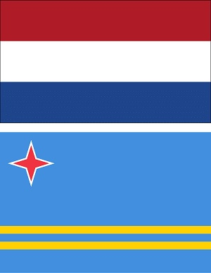 Flag Kingdom of the Netherlands and of Aruba