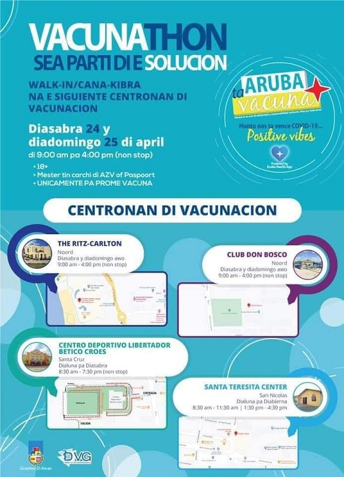 Vaccination marathon on April 24 and 25, 2021
